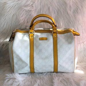 💯% Authentic Gucci Joy Boston PVC Leather Bag